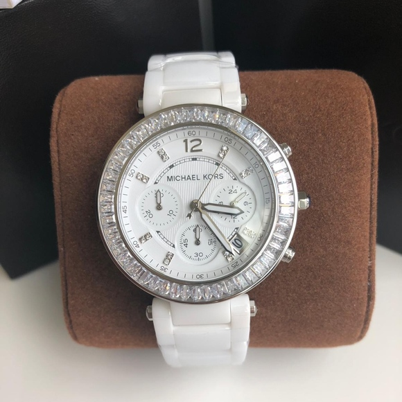 be31acf29 Michael Kors Accessories | Brand New White Ceramic Watch Mk5848 ...